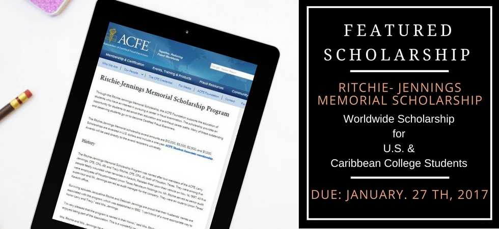Ritchie-Jennings Scholarship Alert on Your Money Worth