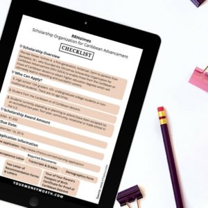 RRH S.O.C.A. Scholarship Checklist
