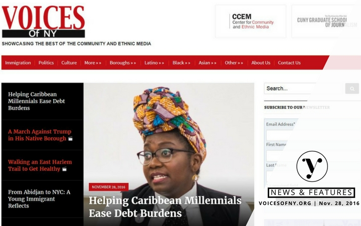 Featured Melisa Boutin in Voices of New York Helping Caribbean Millennials Ease Debt Burdens