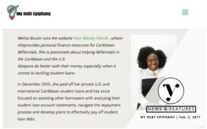 Featured - Melisa Boutin on My Debt Epiphany Debt Mindset Series