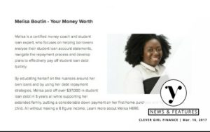 Melisa Boutin Feature on 12 Fav Female Personal Finance Experts by Clever Girl Finance