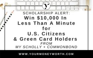 My School and Common Bond $10,000 Scholarship Giveaway