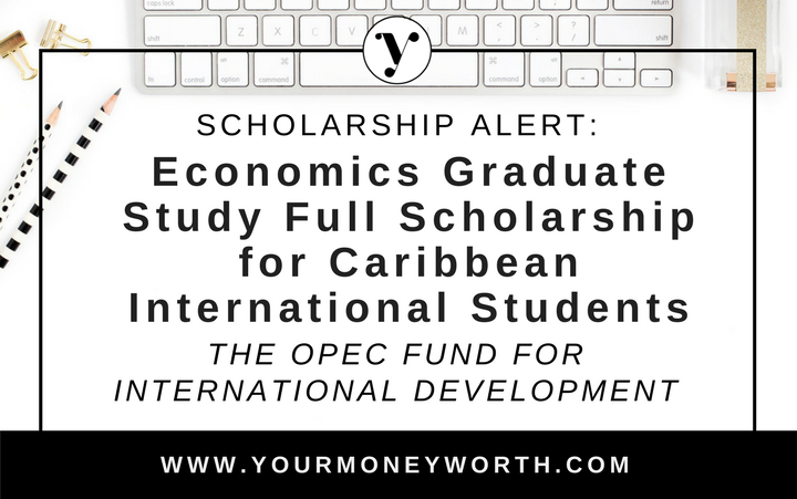 Economics Graduate Student Full Scholarship for Caribbean International Students