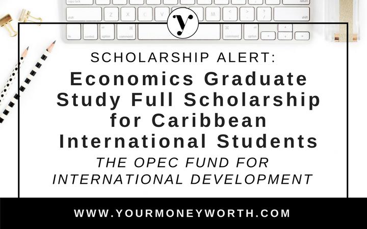 Scholarship Alert Full Economics Graduate Study Scholarship Award