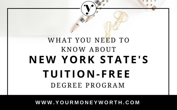 New York State Tuition Free Degree Program Excelsior Scholarship