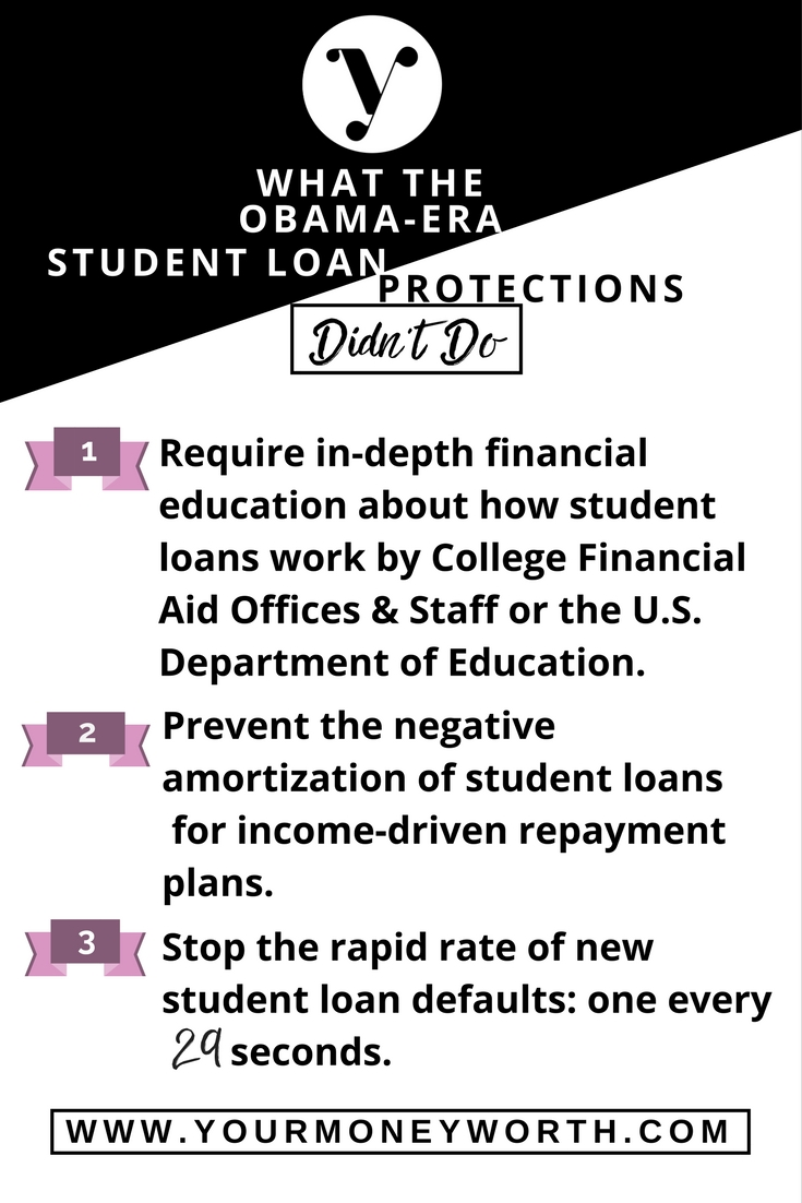 3 Facts About Obama Era Student Loan Protections
