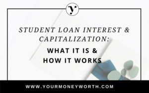 Student Loan Interest and Capitalization - What it Is And How It Works | Your Money Worth Blog
