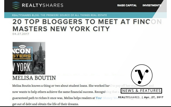 Featured - Top Personal Finance Blogger to Meet At FinCon Masters