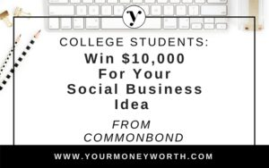 CommonBond Social Impact Award for College Students