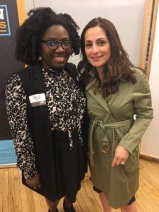 Melisa Boutin and Farnoosh Torabi at Fincon Masters