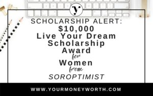Soroptimist $10,00 Scholarship for Women