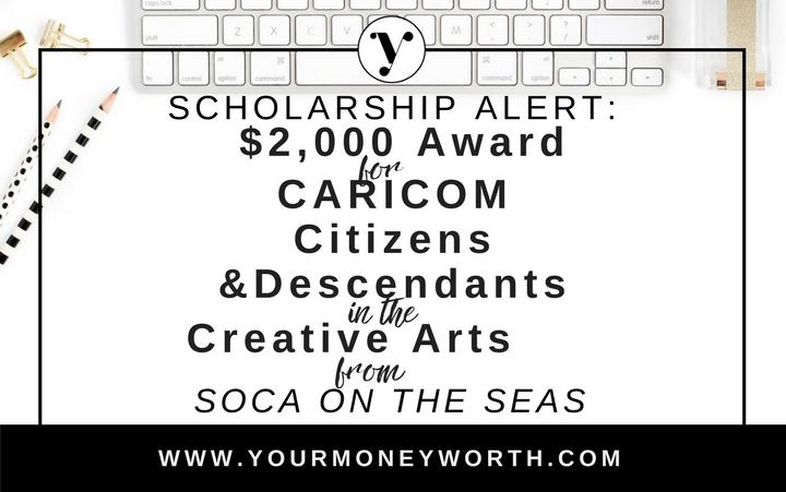 $2000 Soca On The Seas Scholarship
