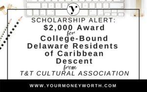 $2,000 T&T CAD Scholarship